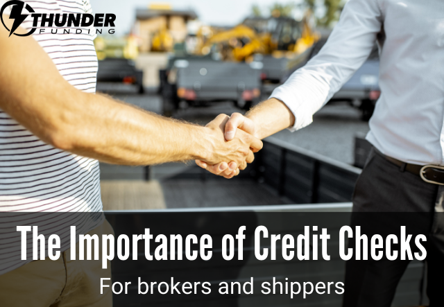 Credit Checks for Brokers and Shippers | Thunder Funding